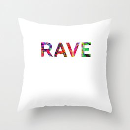 Rave Festival Techno Hardstyle Party Throw Pillow