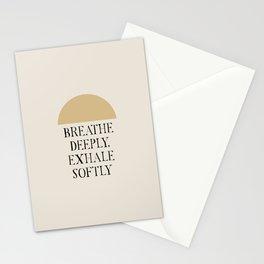 Breathe Deeply Exhale Softly Stationery Cards