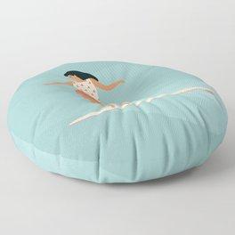 Surf girl Floor Pillow