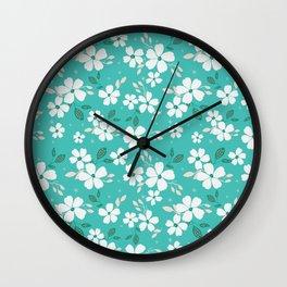 Torque Floral Wall Clock