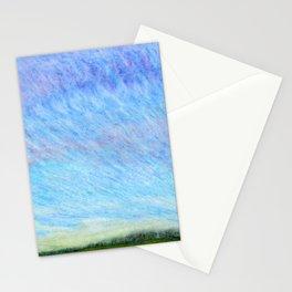 Pastel blue sky Stationery Cards