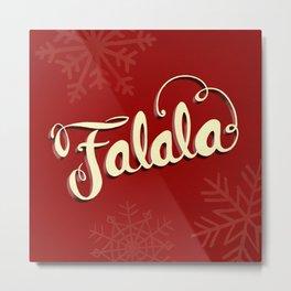 Falala - Red Metal Print