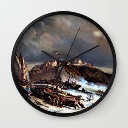 Approaching Storm - Eugene Isabey Wall Clock