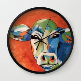 Chillin' Cow Wall Clock
