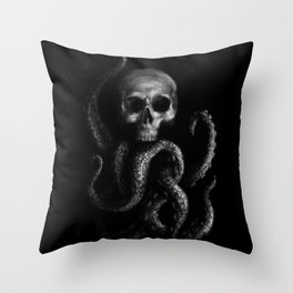 Skullapus Throw Pillow