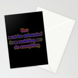 "Funny ""Watch Me Do Everything"" Joke Stationery Cards"