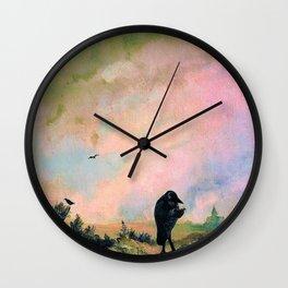 The Raven - Carl Spitzweg Wall Clock