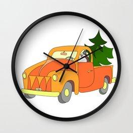 Snowman's pickup Wall Clock