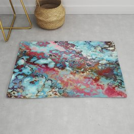 Colorful abstract marble II Rug