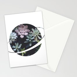 Planet Art Series - Blooming planet Stationery Cards