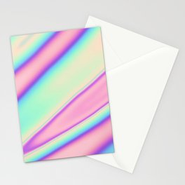 Holographic Foil Neon Pastel Colorful Pattern Abstract Marble Multi Colored Gradient Stationery Cards