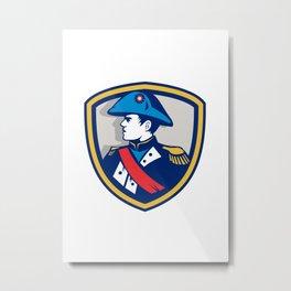 Napoleon Bonaparte Bicorn Hat Crest Retro Metal Print