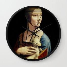 Leonardo da Vinci - The Lady with an Ermine Wall Clock