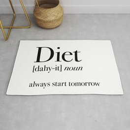 Diet always start tomorrow Rug
