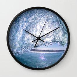 Rosarito Beach Baja Mexico Blue Wall Clock