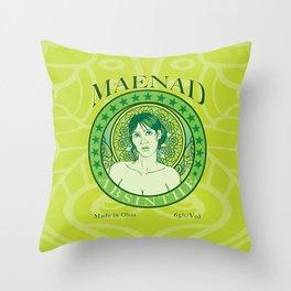 Maenad Absinthe Throw Pillow