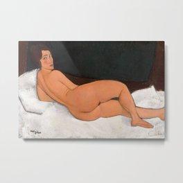 Amedeo Modigliani - Nu couché (sur le côté gauche) Metal Print