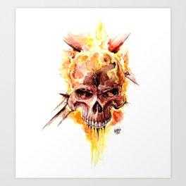 Ghost Rider Skull Art Print