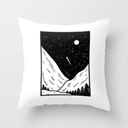 Cadre paysage Throw Pillow