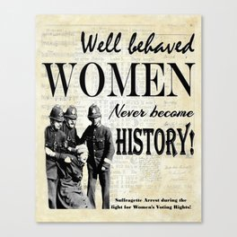 Women Misbehaving! Canvas Print