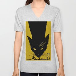Vintage poster - Black Cat Unisex V-Neck