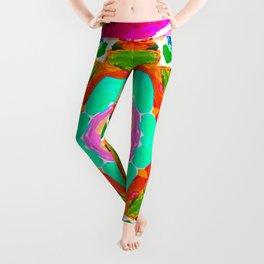 my rainbow heart mandala Leggings