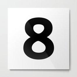 Number 8 (Black & White) Metal Print