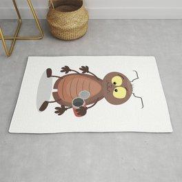Funny cockroach cartoon Rug
