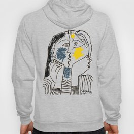 Pablo Picasso Kiss 1979 Artwork Reproduction For TShirts, Framed Prints Hoody