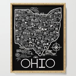 Map of Ohio Serving Tray