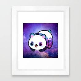 Kawaii Galactic Mighty Panda Framed Art Print