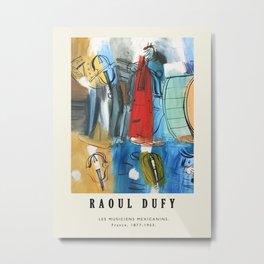 Poster-Raoul Dufy-Les musiciens mexicanins. Metal Print