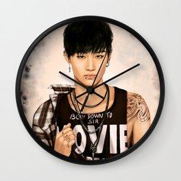 Tattooed JB (GOT7) - digital art Wall Clock