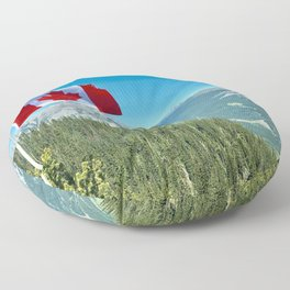 Canada Photography - Canadian Flag By Beautiful Nature Floor Pillow
