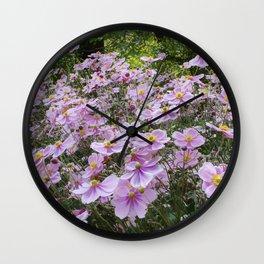 Pink Anemones  Wall Clock