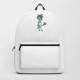 Witch Nurse, It's Show Time Funny Halloween Horror Scary Backpack