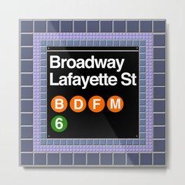 subway broadway sign Metal Print