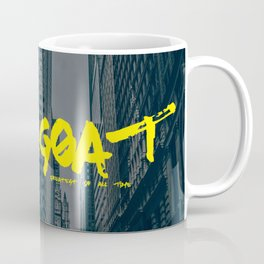 G.O.A.T (Greatest Of All Time) Urban Font Coffee Mug