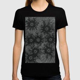 Authentic Aboriginal Art - Waterhole Dreaming B&W T-shirt