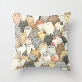 Sea of Cats Throw Pillow