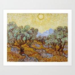 Vincent van Gogh - Olive Trees (1889) Art Print