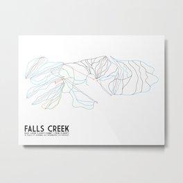 Falls Creek, Victoria, Australia - Minimalist Trail Art Metal Print