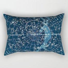 1900 Star Constellation Map - Chart Vintage Poster Rectangular Pillow