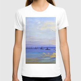 Sir John Lavery - The American Battle Squadron in the Firth of Forth - Digital Remastered Edition T-shirt