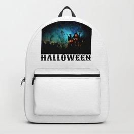 Spooky Haunted House Gift Happy Halloween Gift Backpack