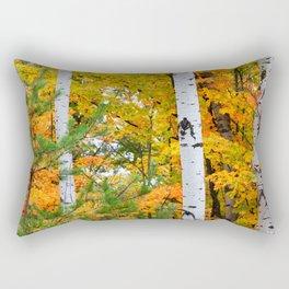 Birch Trees and Autumn Colors Rectangular Pillow