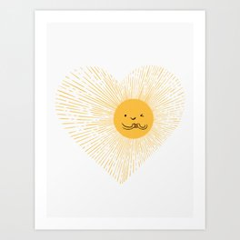 You are the Sunshine of my heart Art Print