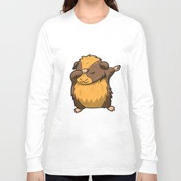 Dabbing Guinea Pig Shirt Hamster Cavy Dab Pet Gift Long Sleeve T-shirt