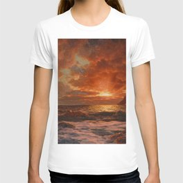 Sunrise over the Sea by Ivan Fedorovich Choultsé T-shirt