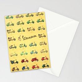1969 Vintage Vespa Motor Scooter 1946 to 1969 Advertisement Model Poster Stationery Cards